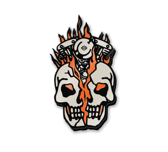 Picture of Skull Bust Enamel Pin