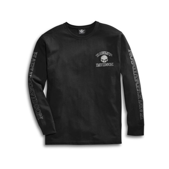 Picture of Men's Skull Long Sleeve Tee - Black