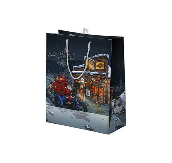 Picture of Biker Santa Gift Bag