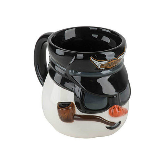 Picture of Biker Snowman Sculpted Mug