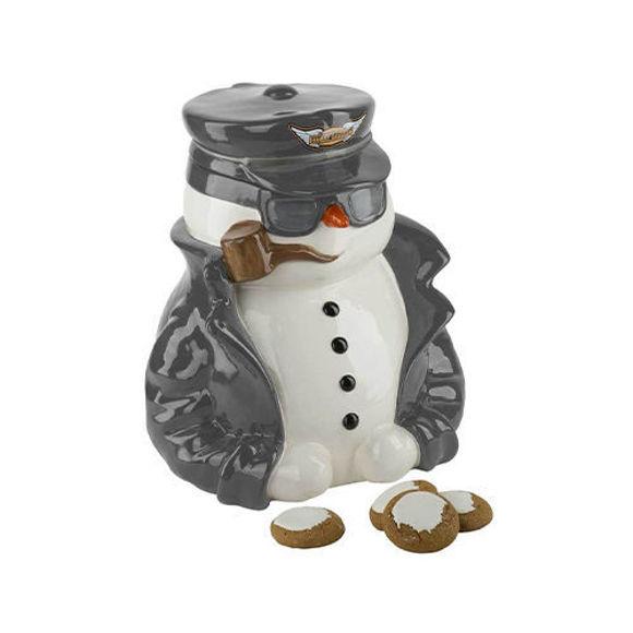 Picture of Custom Sculpted Biker Snowman Cookie Jar