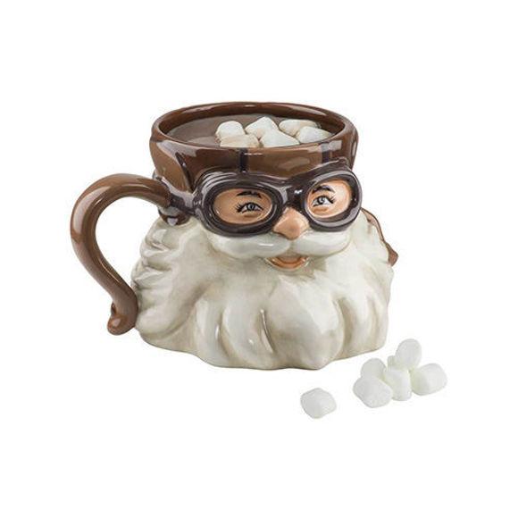 Picture of Biker Santa Sculpted Coffee Mug