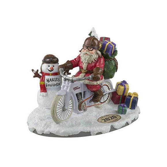 Picture of Custom Sculpted 2020 Biker Santa & Snowman Figurine