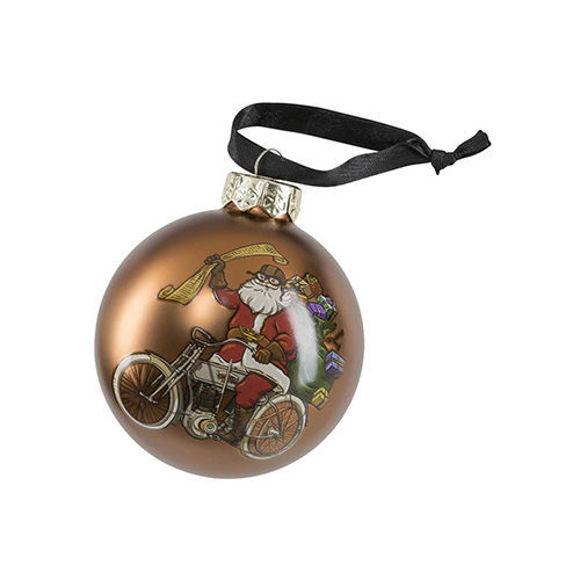Picture of Winter 2020 Biker Santa Ball Glass Ornament