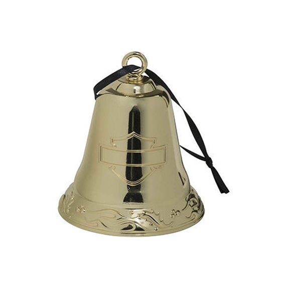 Picture of 2020 Functional Metal Bell Ornament - Gold