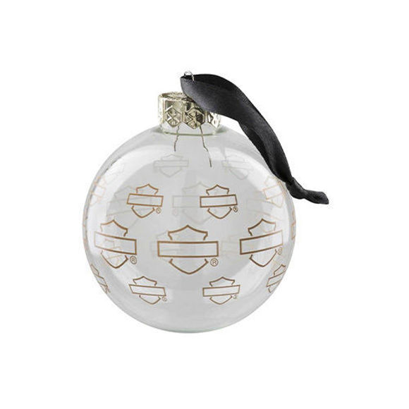 Picture of Repeat Silhouette Bar & Shield Ball Ornament