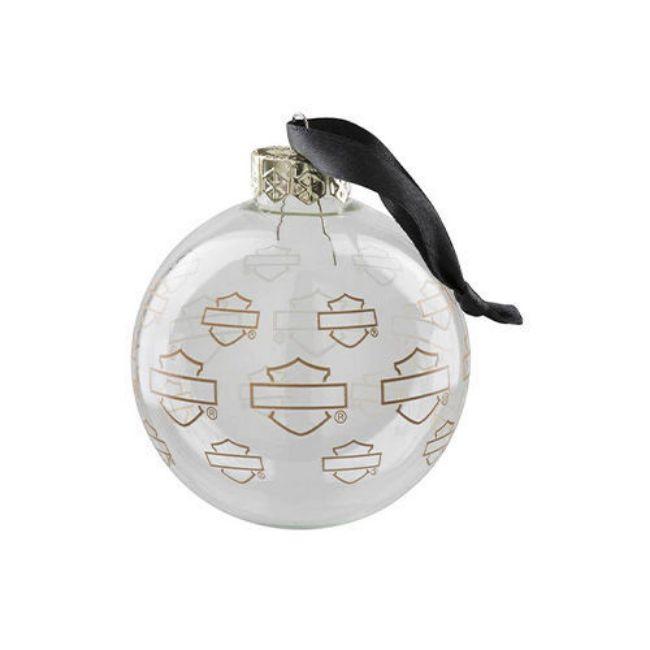Picture of Repeat Silhouette Bar & Shield Ball Ornament