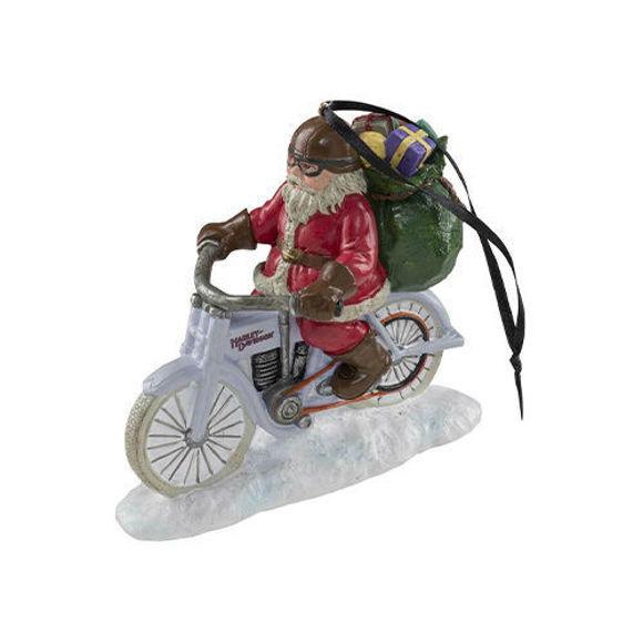 Picture of Custom Sculpted Biker Santa Polyresin Ornament