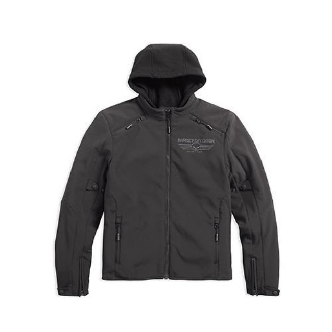 Picture of Men's Reflective Skull 3-In-1 Soft Shell Riding Jacket