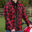 Picture of Men's Axe Checkered Long Sleeve Riding Shirt - Red
