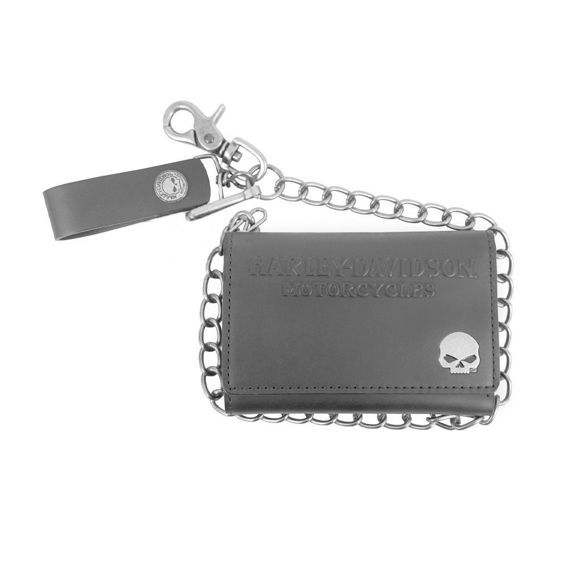 Picture of Men's Skull Medallion Tri-fold Biker Wallet
