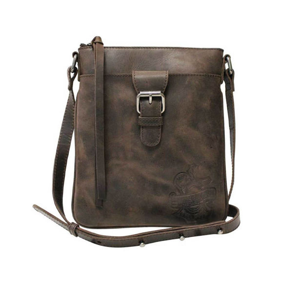 Picture of Women's Hunter Vertical Leather Crossbody Purse