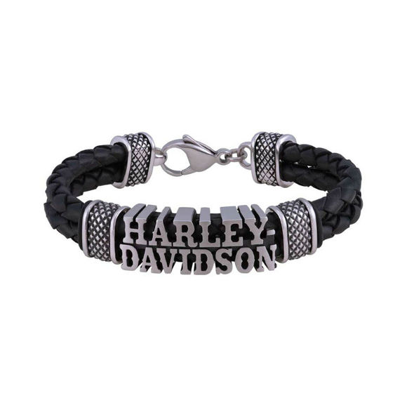 Picture of Men's Western H-D Double Leather Braided Bracelet