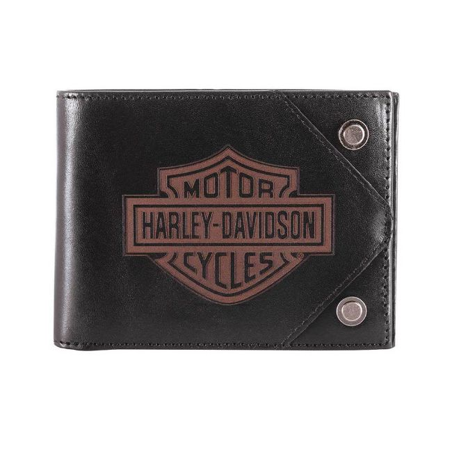 Picture of Men's Lasered B&S Bi-Fold Leather Wallet