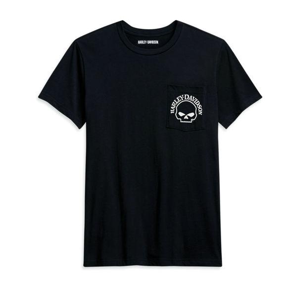 Picture of Men's Skull Pocket Tee - Black
