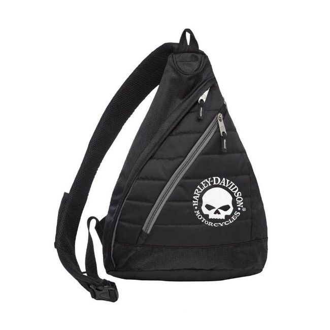 Picture of Willie G Skull Quilted Travel Large Sling Backpack