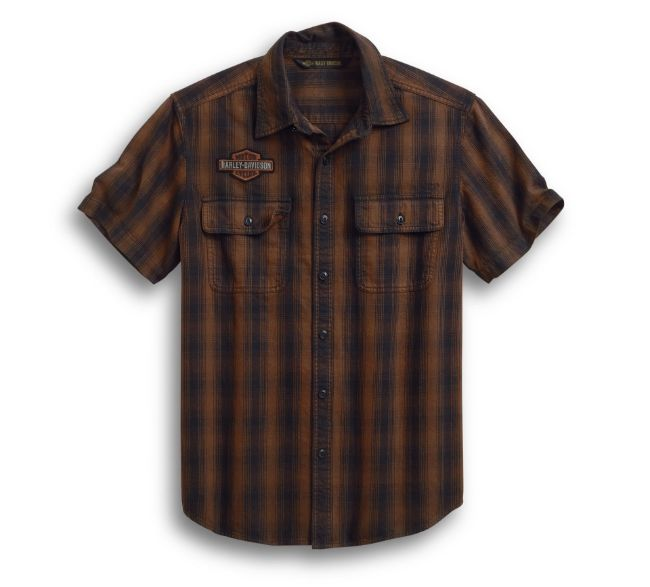 Picture of Men's Plaid Short Sleeve Shirt