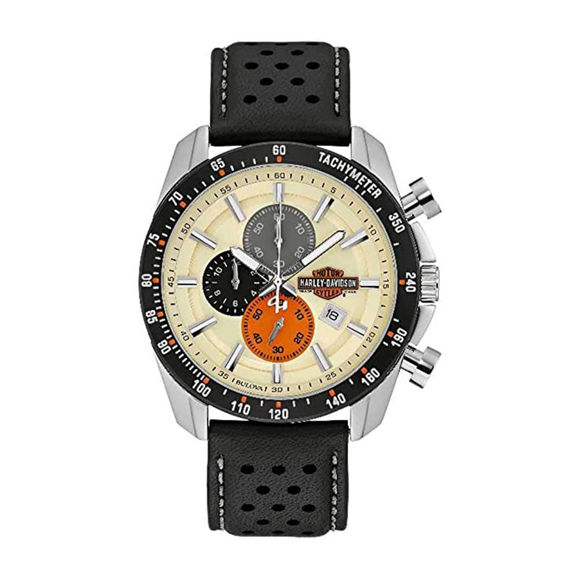 Picture of Men's Bulova Vintage Bar & Shield Chronograph Stainless Steel Watch