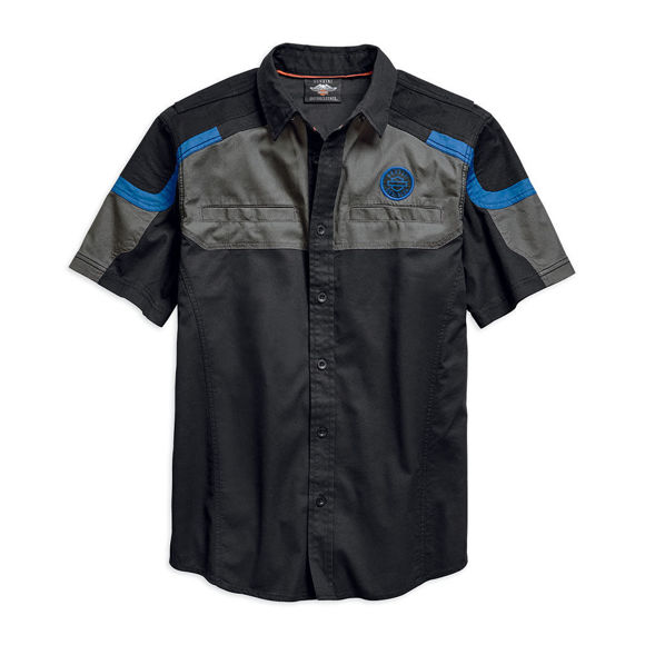 Picture of Men's Performance Colorblocked Vented Woven Shirt