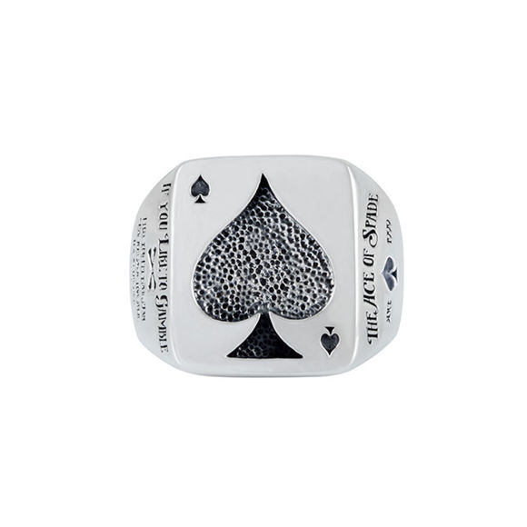 Picture of Silver Ace of Spades Ring