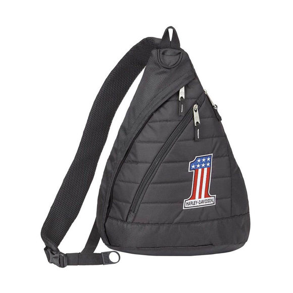 Picture of #1 RWB Logo Quilted Sling Backpack