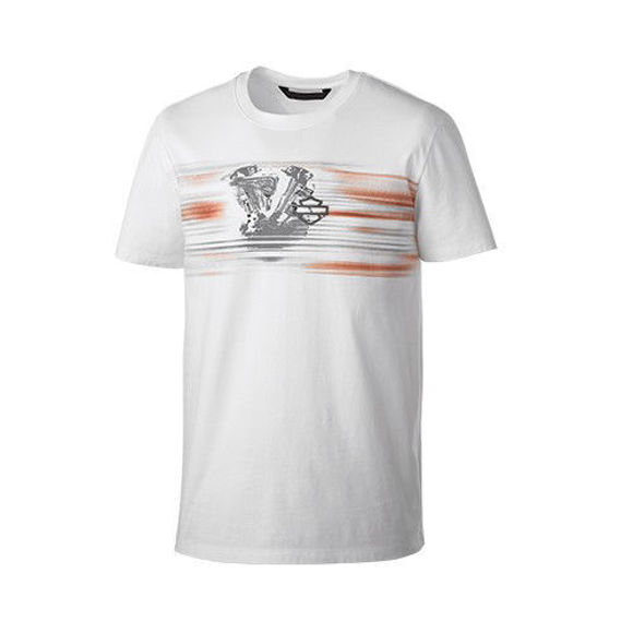 Picture of Men's Layered Print Slim Fit Tee