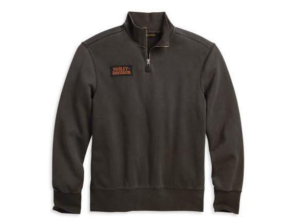 Picture of Men's 1/4-Zip Slim Fit Mock Neck Pullover Sweatshirt