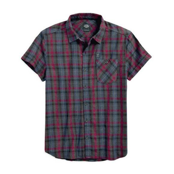 Picture of Men's Poplin Short Sleeve Plaid Shirt