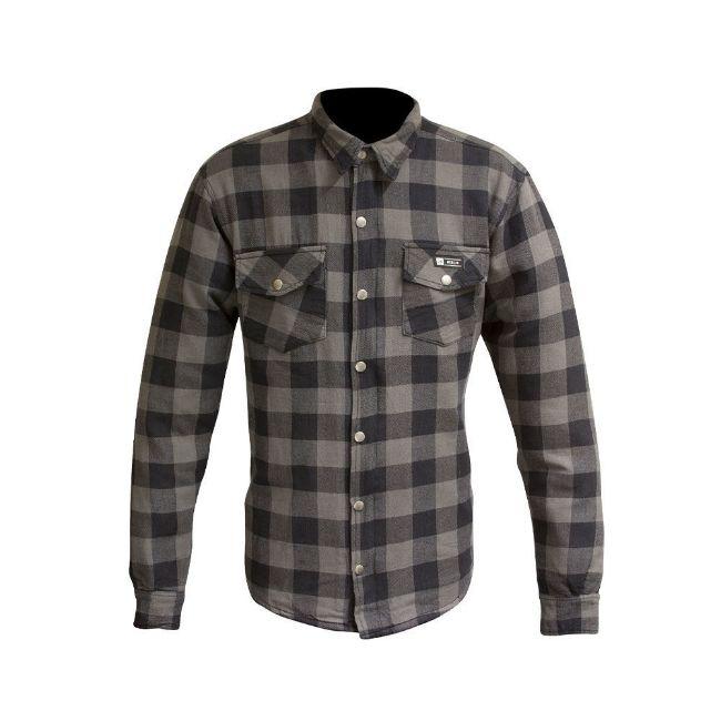 Picture of Men's Axe Checkered Long Sleeve Riding Shirt - Grey