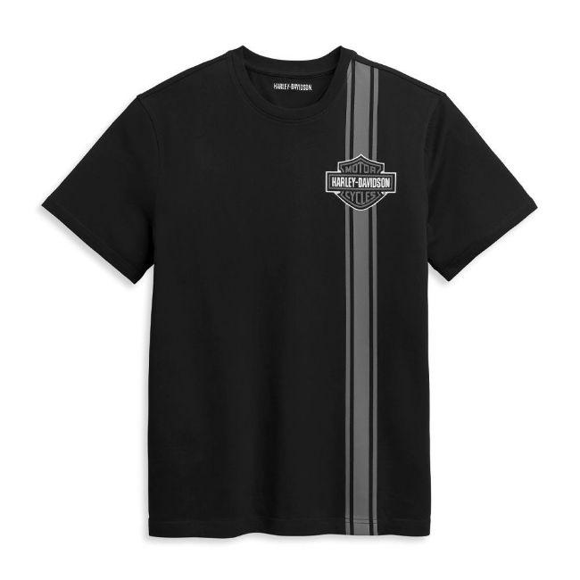 Picture of Men's Vertical Stripe Bar & Shield Logo Tee