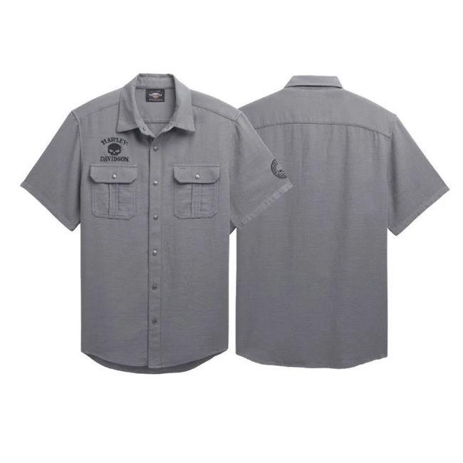 Picture of Men's Willie G Skull Textured Shirt