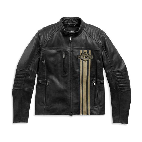 Picture of Men's H-D Triple Vent Passing Link II Leather Jacket