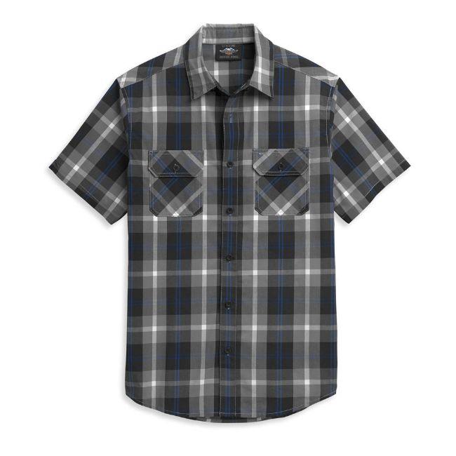 Picture of Men's Block Letter Plaid Shirt