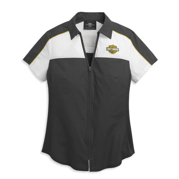 Picture of Women's Bar & Shield Zip Front Shirt
