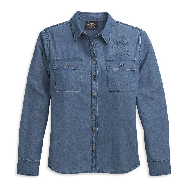 Picture of Women's Patch Pocket Denim Shirt