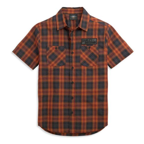 Picture of Men's Plaid Patch Logo Shirt