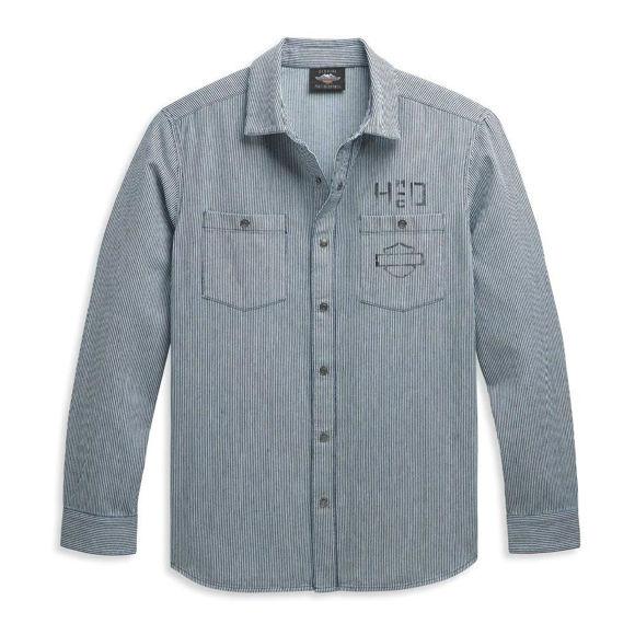 Picture of Men's Railroad Stripe Logo Shirt