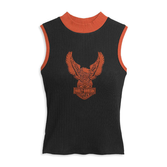 Picture of Women's Winged Eagle Contrast Mockneck Knit Top