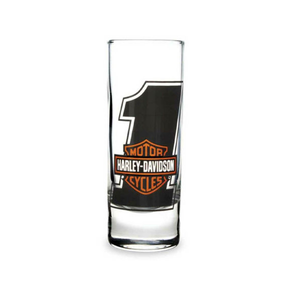 Picture of #1 Bar & Shield Logo Tall Clear Shot Glass