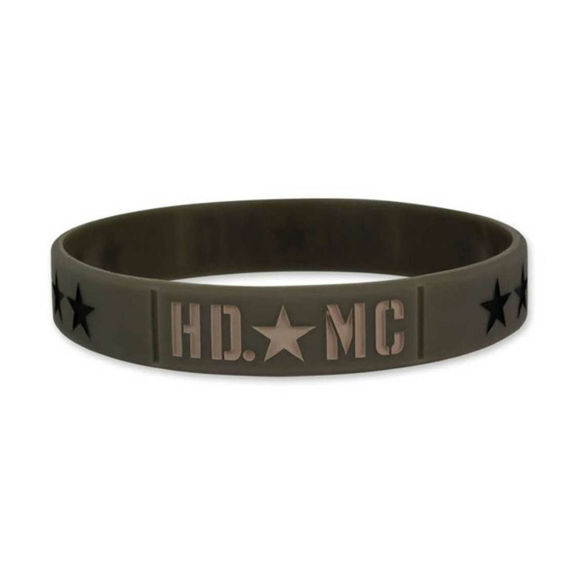 Picture of Debossed Military Star Silicone Wristband