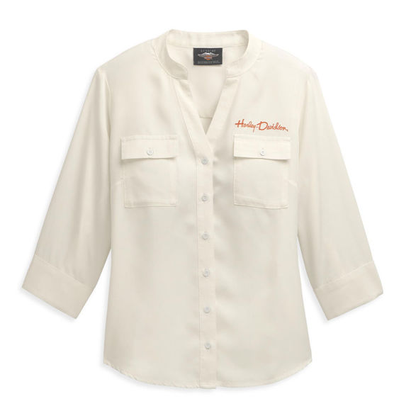 Picture of Women's Embroidery Two Pocket Shirt 96469-21VW