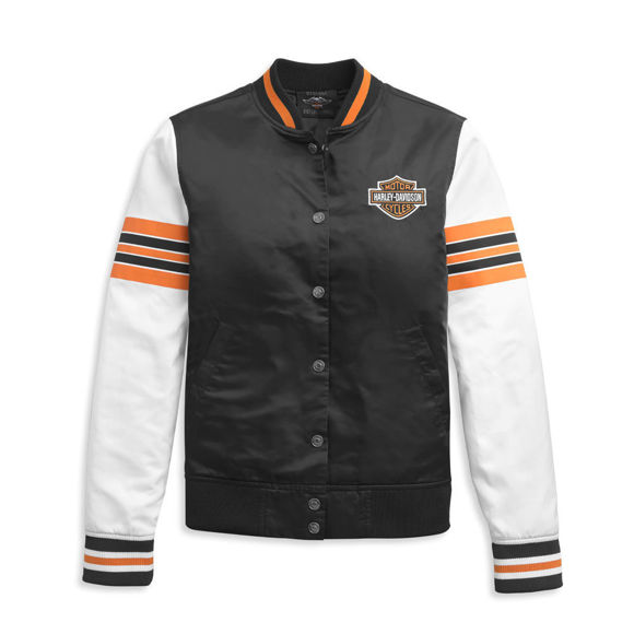 Picture of Women's Sleeve Stripe Bomber Jacket