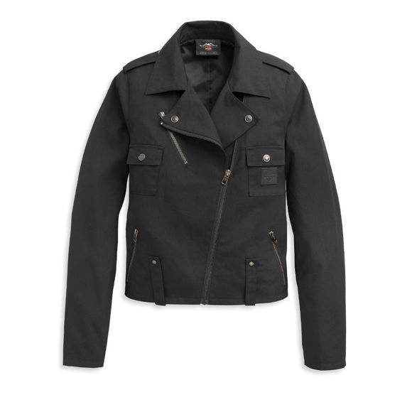 Picture of Women's Asymetrical Zip Biker Jacket