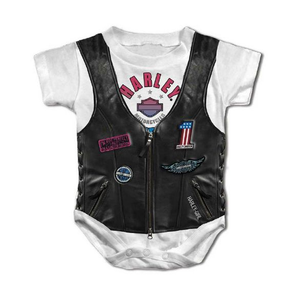 Picture of Baby Girls' Faux Leather Vest Short Sleeve Creeper