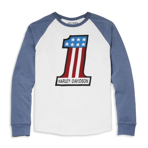 Picture of Men's #1 Race Raglan Sleeve Graphic Tee - China Blue