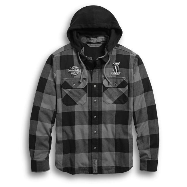 Picture of Men's Lined Hooded Shirt Jacket