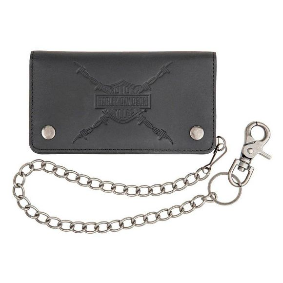 Picture of Men's Danger Zone Genuine Leather Biker Wallet