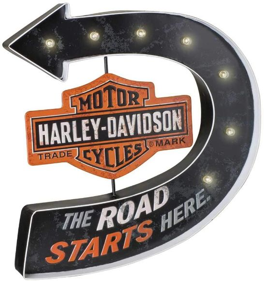 Picture of H-D  Road Starts Here Marquee Pub Sign
