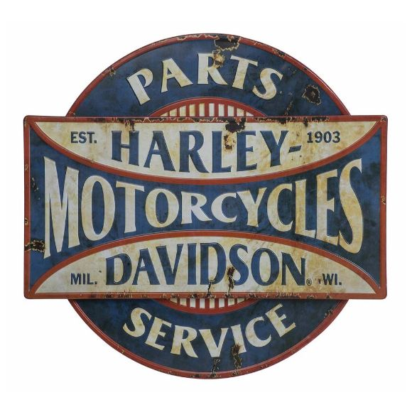 Picture of H-D Parts & Service Distressed Metal Wall Sign