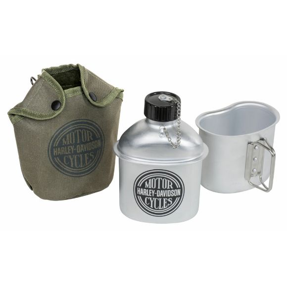 Picture of H-D Aluminium Canteen with Canvas Pouch